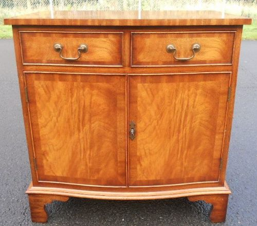 Light Mahogany Serpentine Side Cupboard